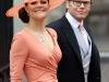 Crown, princess Victoria of Sweden and prince Daniel of Sweden