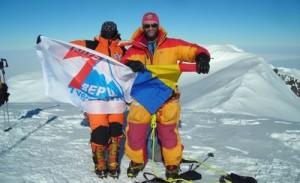Crina Coco Popescu si Alex Abramov Mt Sidley Antarctica