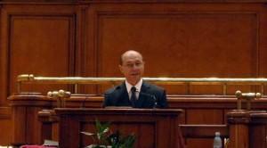 Traian Basescu la Parlament