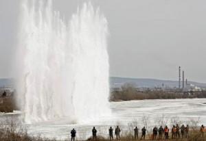 gheata dinamita Dunare