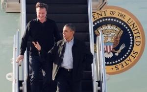 David Cameron si Barack Obama Air Force One (newstatesman.com)