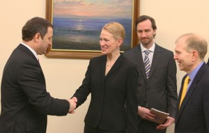 Vlad Filat si Celeste Wallander