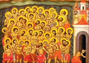 Sfintii 40 de Mucenici, poveste si traditii