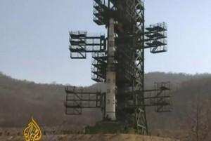 Coreea de Nord racheta gata de lansare