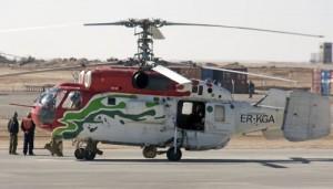 Elicopter KA-32 aparatinand Pecotox Air prabusit in Tulcea la Ostrov