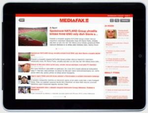 Mediafax - versiune pentru iPad