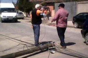 masina stalp cabluri