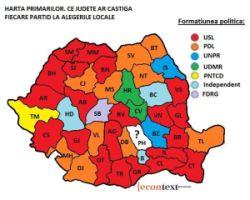 Harta primari - alegeri locale