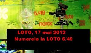 LOTO, 17 mai 2012 – Numerele la LOTO 6/49