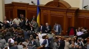 Ucraina - Bataie in Parlament