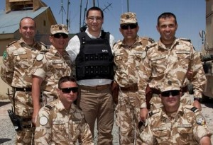 Victor Ponta in Afganistan la militarii romani