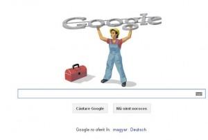 ZIUA MUNCII 1 MAI 2012 Google logo comunist