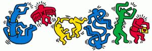 Keith Haring  si graffiti de la Google