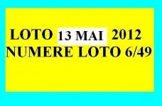 LOTO, 13 mai 2012 – Numerele la LOTO 6/49