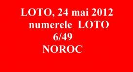 LOTO, 24 mai 2012 – Numerele la LOTO 6/49 si NOROC