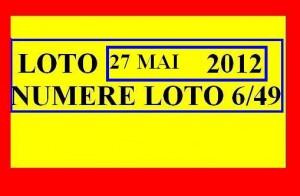 LOTO 27 MAI 2012 27.05.2012