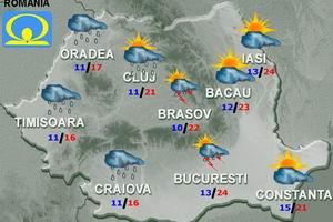 vremea marti si miercuri