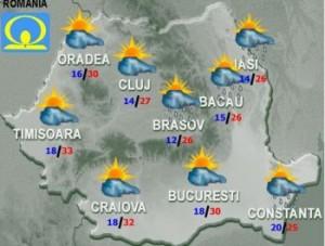 Cum va fi vremea vineri