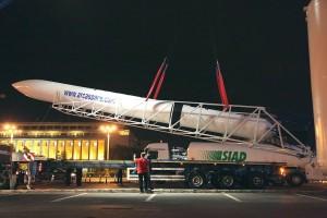ARCA a adus racheta orbitală Haas 2 în Piaţa Victoriei