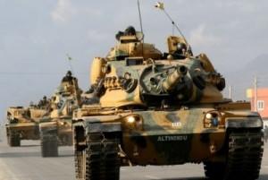 Pregătiri de război: Turcia mobilizează trupe şi tehnică de luptă la graniţa cu Siria