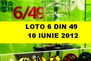 LOTO, 10 iunie 2012 – Numerele la LOTO 6/49