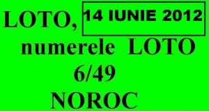 LOTO, 14 iunie 2012 – Numerele la LOTO 6/49 si NOROC