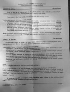 BACALAUREAT 2012 Subiecte limba romana proba scrisa 2