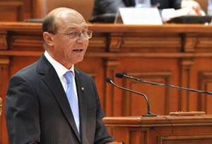 Ce a spus Traian Basescu in Parlament