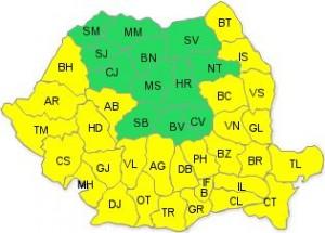 ANM: Cod galben de caniculă în 29 de judeţe şi Bucureşti