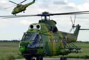 Elicopter militar. IAR-330 Puma, prăbuşit