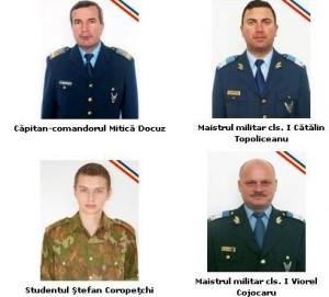 Accident de elicopter: Ceremonii în memoria militarilor decedaţi joi