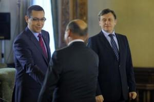 Ponta, Antonescu şi Băsescu, întâlnire la Senat