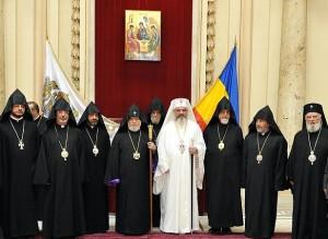 Catolicosul armean Karekin al II-lea, la Patriarhia Română