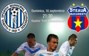 Liga I etapa a 8-a CSMS Iasi - Steaua Bucuresti