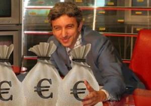 Circul continuă cu Dan Diaconescu la bancă şi sacii de bani