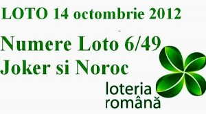 Loto 14 octombrie 2012 - numere loto 6 din 49 Joker si Noroc