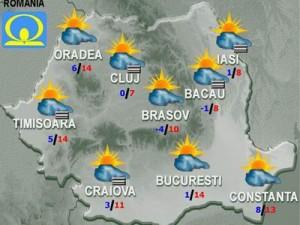 Meteo: Cum va fi vremea marţi şi miercuri