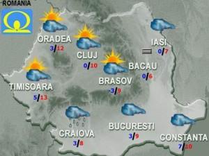 Meteo: Vremea aduce ploi şi ceaţă. Temperaturile marţi şi miercuri
