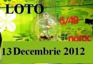 LOTO, 13 decembrie 2012: Numerele Loto 6/49, Joker şi Noroc