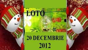 Loto 20 decembrie 2012 numere loto 6 din 49 Joker si Noroc