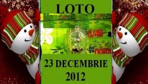 LOTO, 23 decembrie 2012: Numerele Loto 6/49, Joker şi Noroc