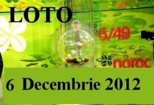 Loto 6 decembrie 2012 numere loto 6 din 49 Joker si Noroc