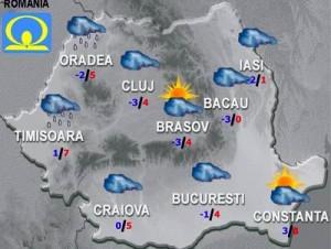 Meteo: Cât de urâtă va fi vremea vineri