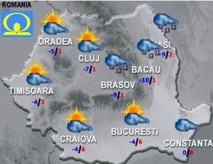 Meteo: Vremea joi şi vineri. Vin ninsorile?