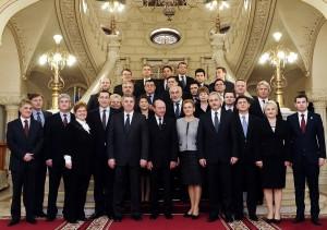 Jurământul de învestitură de la Cotroceni. Ce a transmis Traian Băsescu noului Guvern