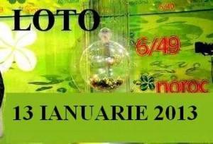 LOTO, 13 ianuarie 2013: Numerele Loto 6/49, Joker şi Noroc