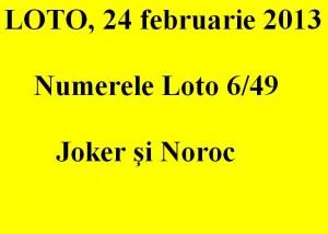 LOTO, 24 februarie 2013: Numerele Loto 6/49, Joker şi Noroc sport