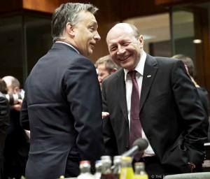 Băsescu şi Viktor Orban la Bruxelles