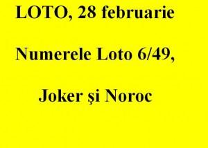 LOTO, 28 februarie 2013: Numerele Loto 6/49, Joker şi Noroc sport