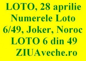 Loto, 28 aprilie 2013: Numerele Loto 6/49, Joker şi Noroc sport